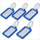 5PCS Luggage Tags ID Labels Suitcase New Bag Address Name Strap Travel