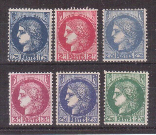 FRANCE 1938-40 MINT SET #335/40, CERES !!  R