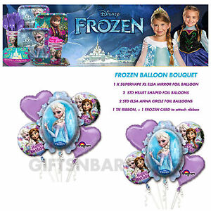 DISNEY-FROZEN-HELIUM-5-FOIL-BALLOONS-BOUQUET-FREE-GIFT-BIRTHDAY-PARTY-SUPPLIES