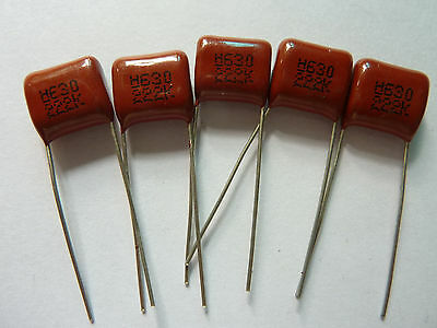 50PCS CBB13 222K 630V 0.0022UF 2.2NF P10 Metallized Film Capacitor
