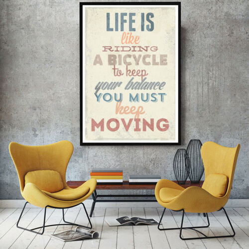 Art Fabric Print Canvas Poster Motivational Quotes Painting Decor No Frame M10