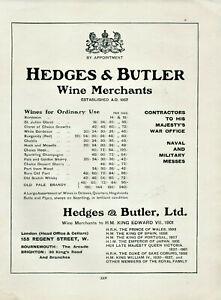 Antique-Advertisement-Print-Hedges-amp-Butler-amp-Royal-Exchange-amp-Savory-amp-Moores