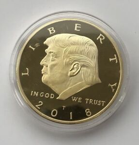 2018-Rare-Donald-Trump-Republican-US-Gold-Eagle-Collection-Gift-Coin-W-Capsule
