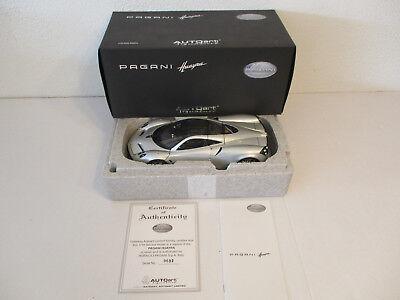 Audacious gok 1:18 Autoart Pagani Huayra Silver New Original Box
