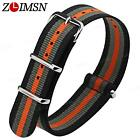 Sport Ballistic Durable Military Nylon Wrist Watch Band Strap 18 20mm 22mm 24mm