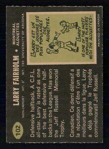 LARRY-FAIRHOLM-1970-O-PEE-CHEE-CFL-1970-NO-102-NRMINT-25214