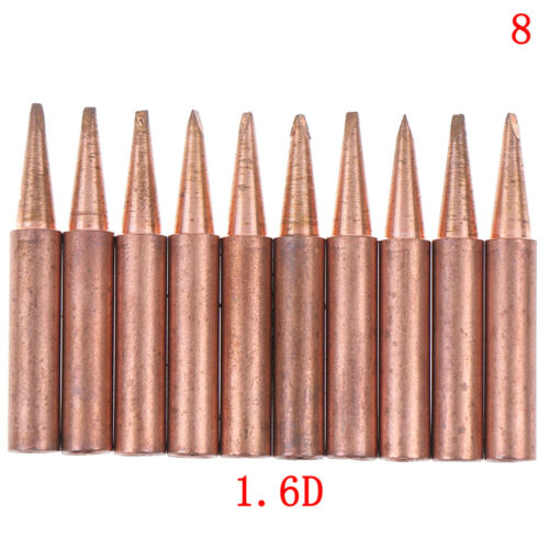 10pcs//lot 900M-T-K Diamagnetic copper soldering iron tip Lead-free Solder FL