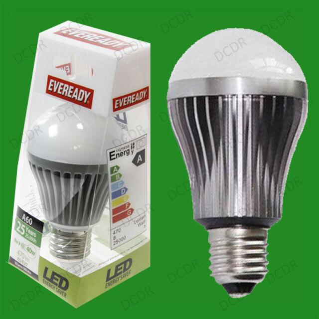 8W (=40W) LED Ultra Low Energy GLS Globe Light Bulbs, Edison Screw ES E27 Lamps