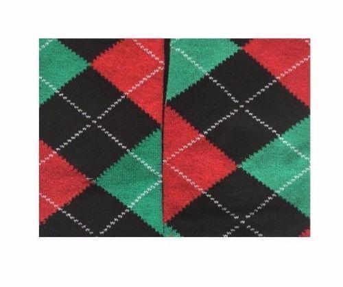 3 Pairs Ladies Over Knee high Argyle Design Horse riding Socks Christmas Gift