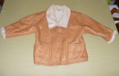 Taglia Donna Giubbotto Vintage Cappotto Shearling 44 Originale Pelle Montone wq0ttI57