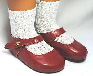 boneka Zapatos De Muñeca Mary Janes tamaño 95n rojo / SHOES 95n