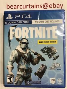 Fortnite Deep Freeze Bundle Ps4 Brand New Factory Sealed No Physical