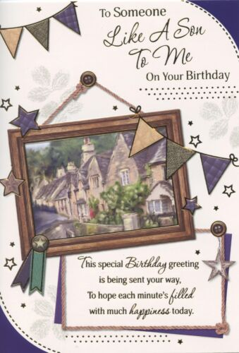 LIKE A SON TO ME BIRTHDAY CARD 4 DESIGNS TO CHOOSE FROM 1STP/&P GREETING CARDS