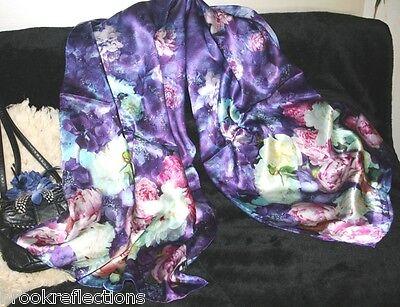 "100% Silk Scarf/XL*LONG-Exquizite/Handmade*LTD*Silk-Art""Sensations-3""BRT021*BR"