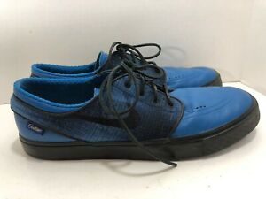 Details about Pendleton Nike iD Stefan Janoski Blue Leather Plaid Size 14 zoom air