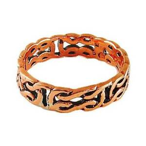 Celtic-Copper-Ring-Band-Irish-Jewelry-Knot-Design-Knotwork-Symbol-CR-155-Gift