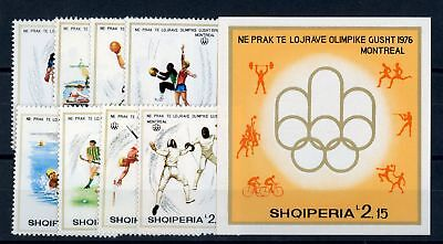 Pure And Mild Flavor Charitable Albanien Nr.1807-1814a+bl.58 ** Olympische Spiele 1976 !!! 109445