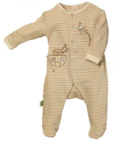 LOTTIES Baby Overall geringelt avec pied Body monobloc de sigle