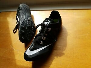 524caf29dcf Details about Nike Zoom Rival Sprint Racing sz 9 Black White 616313 001  Track Spikes Cleats