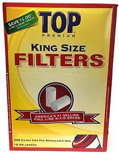 TOP-Filter-Tips-18MM-King-Size-Box-16-Bags-Premium-Cigarette-200-Tip-Per-Bag