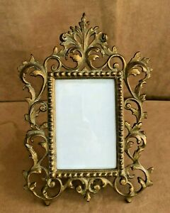 Victorian Gold Easel Picture Frame 2172 Brass Ormolu Rococo MB & IW
