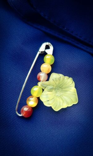5.5cm Long Vintage Inspired Safety Pin Brooch//Shawl Pin