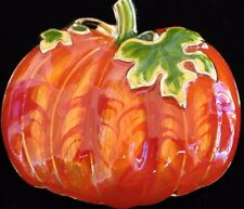 FALL AUTUMN BURNT ORANGE HALLOWEEN THANKSGIVING PUMPKIN PIN BROOCH JEWELRY 1.75""