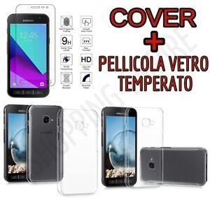 CUSTODIA-COVER-TPU-x-SAMSUNG-GALAXY-XCOVER-4-G390F-PELLICOLA-VETRO-TEMPERATO