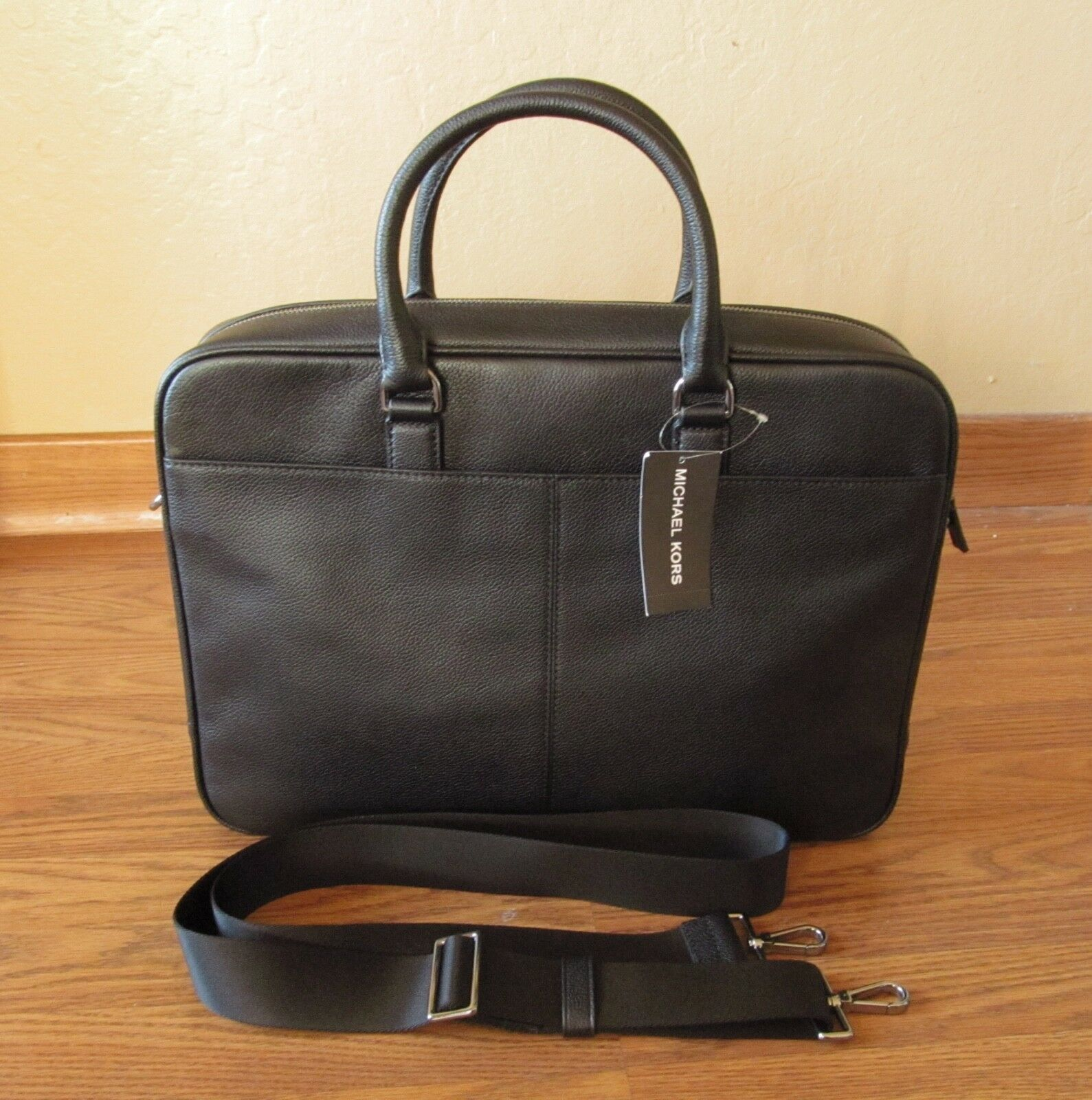 NWT Michael Kors Men's WARREN Leather Medium NS Messenger Bag Black,Navy,Luggage
