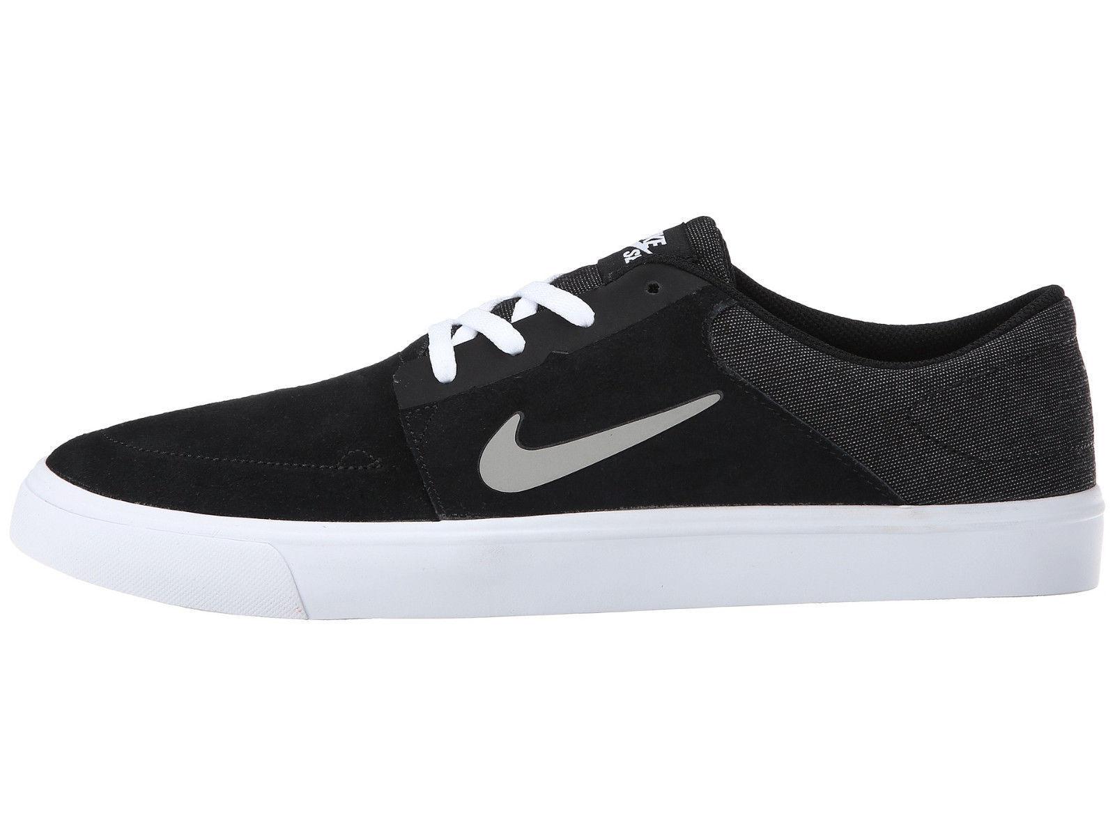 NIKE SB PORTMORE Sneaker Hombres Zapatos 725027001  de Skate Negro/Blanco 725027001 Zapatos Nuevo acbc28