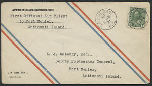 1928-AAMC-2805a-La-Malbaie-to-Port-Menier-First-Flight-CPO-Envelope-Tear