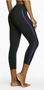 Fabletics-Salar-Mid-Rise-Powerhold-Cropped-Leggings-Small-Black-Stripes