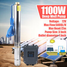 72v Solar Powered Water Pump Submersible Farm Ranch Irrigation Deep Well Dc Usa