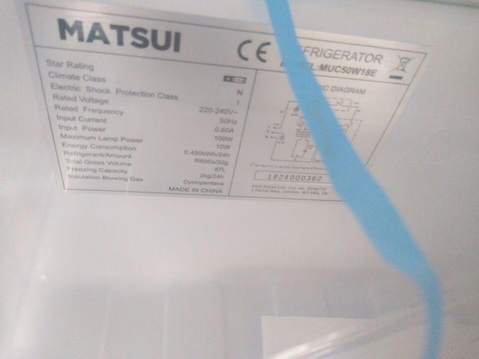 Køle/fryseskab, Matsui Se billederne, 25 liter