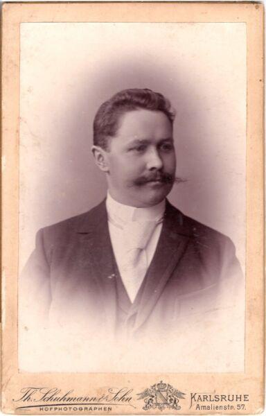 Cab Foto Feiner Herr - Karlsruhe Um 1890