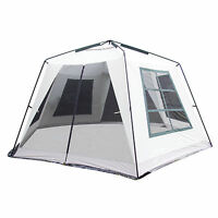 Tahoe Gear Aspen Creek Screen House Outdoor Picnic Shelter (Light Gray)
