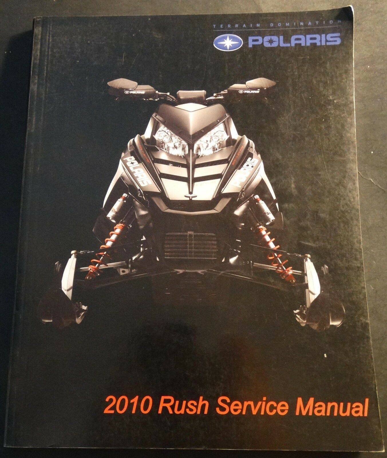 2010 POLARIS SNOWMOBILE RUSH SERVICE MANUAL LIGHTLY USED P/N 9922281 (273)