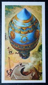 Montgolfier Hot Air Balloon Paris Superb Illustrated Picture Card ...