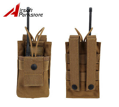 Tactical Army 1000D Molle Radio Walkie Talkie MBITR Pouch Waist Bag Coyote Brown