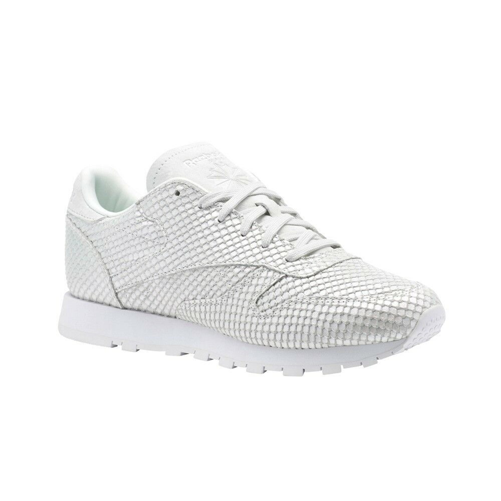 Reebok Classic Leather textural (Nube gris blancoo blancoo blancoo iridesce) Zapatos de mujer CM9789  muchas concesiones
