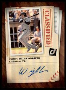 2020-Donruss-Classified-Signatures-Auto-CLS-WA-Willy-Adames-Tampa-Bay-Rays