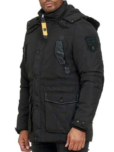 Blackrock Herren Mantel Winterjacke langer Parka Winter warm Jacke mit Fell NEU