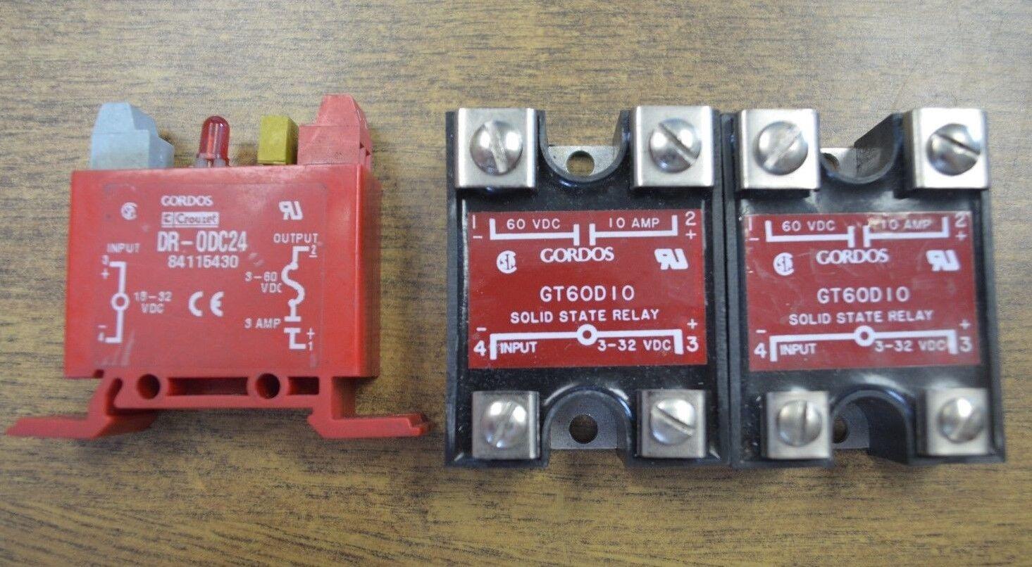 2 Gordos Dc Output Relay Dr Odc24 84115430 Gt60d10 Solid State Relais Ebay