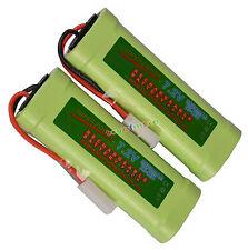 2PC batería recargable de 7.2V 3800mAh Ni-Mh RC