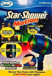 best loved 1b71f 9b603 Details about JML Star Shower Motion Laser Light Stars Projector Xmas  Lights RRP £70 Free P&P