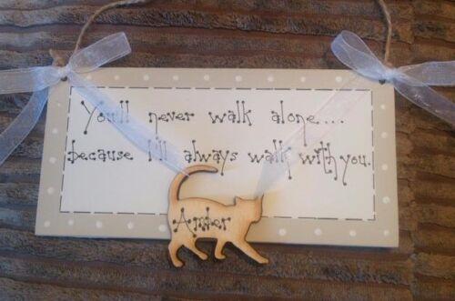 Bespoke Personnalisé Keepsake Plaque Cadeau deuil Cat Lover