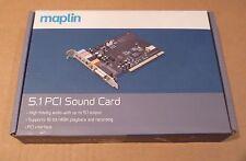 Maplin 5.1 PCI Tarjeta De Sonido-Nuevo Sellado