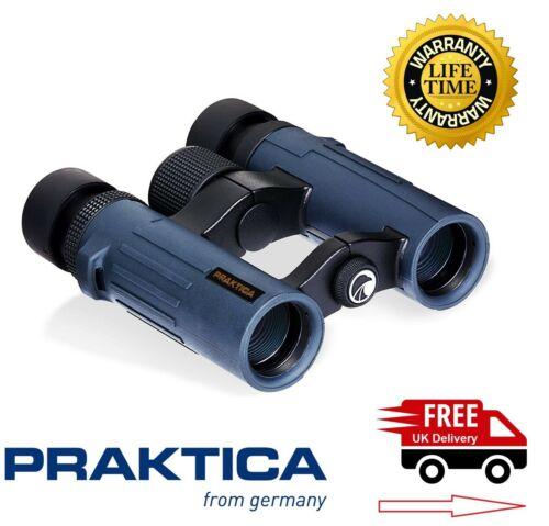 Reino Unido stock Praktica 10x26mm Pioneer Prismáticos Impermeables Azul PRA226