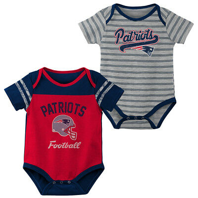 detailed look 45bf0 5cf00 New England Patriots Baby Infant Set of 2 Romper Bodysuits FREE SHIPPING |  eBay