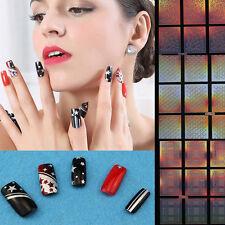 WDS bene 12tips/foglio nail art manicure stencil adesivi su belle unghie vinili